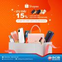 Shopee giảm 15% cho chủ thẻ SCB